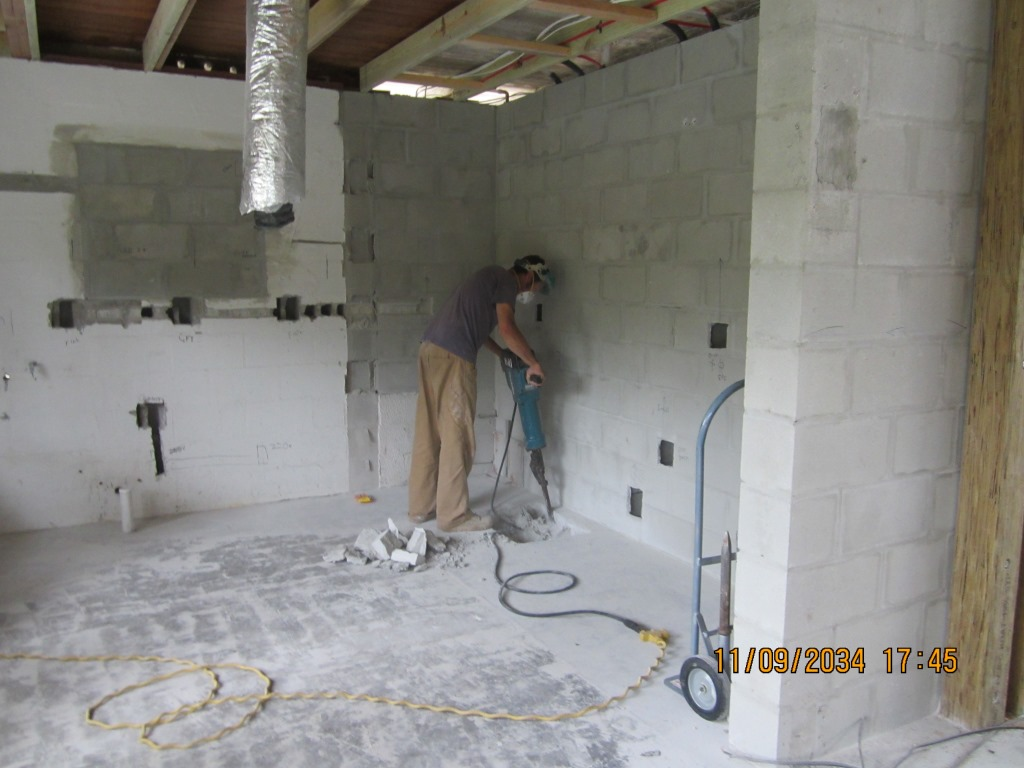 Mechanical And Electrical Anna Maria Island Beach House Renewal Wiring Block Wall One Of The Challenges Running A Remote Project Is Keeping Contractor Current With Design Changes While Construction Continues
